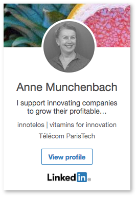 Profil Linkedin de Anne Munchenbach - innotelos | vitamines pour l'innovation (Grenoble)