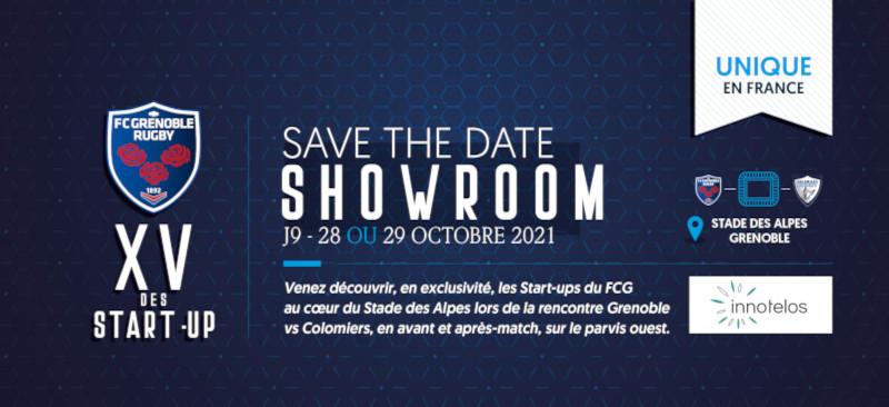 innotelos au showroom du XV des startups du FCG Grenoble Rugby le 2 ou 3 avril 2020 au stade des Alpes