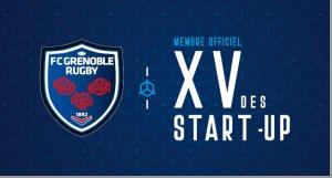 innotelos dans le XV des startups du FCG Grenoble Rugby